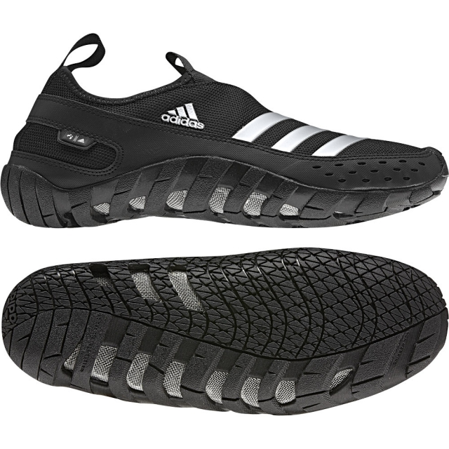 Adidas - Jaw Paw II Water Shoe Mens - Black/Metallic Silver/Black 12