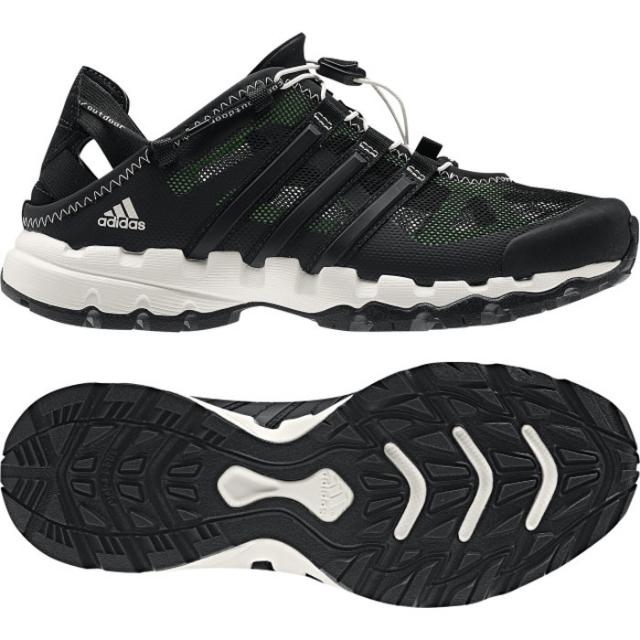 Adidas - Hydroterra Shandal Womens - Black/Green Zest 9.5