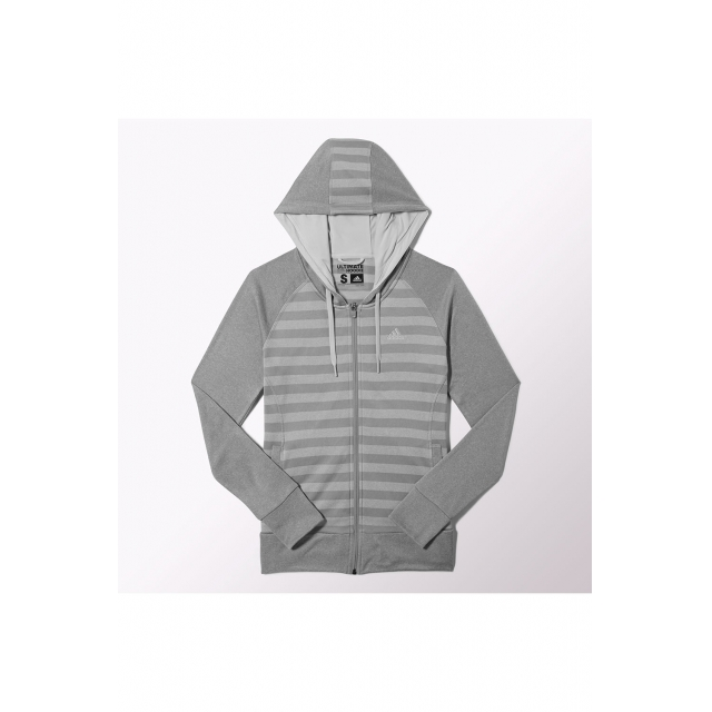 Adidas - Women's W Ultimate FZ Fleece Hoody - M60918 XL