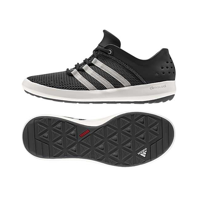Adidas - Climacool Boat Pure Water Shoes: Black/White/Silver, 7.5