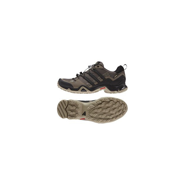 Adidas - Terrex Swift R Low GTX Hiking Shoe - Men's - Umber/Black/Grey Blend In Size