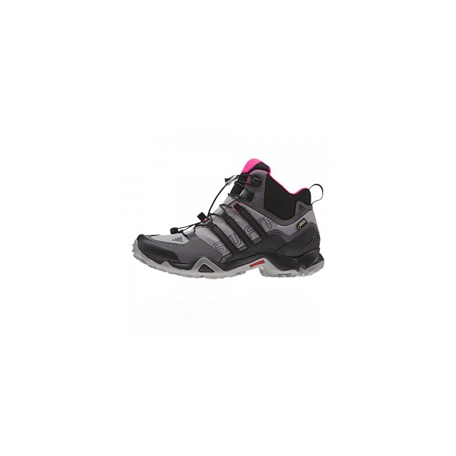 Adidas - Terrex Swift R Mid GORE-TEX Hiking Boot Women's, Shock Pink/Granite/Black, 10.5
