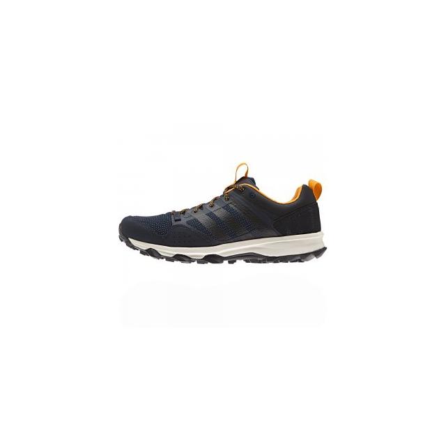Adidas - Kanadia 7 Trail Running Shoe Men's, Night Navy/Black/EQT Orange, 11.5