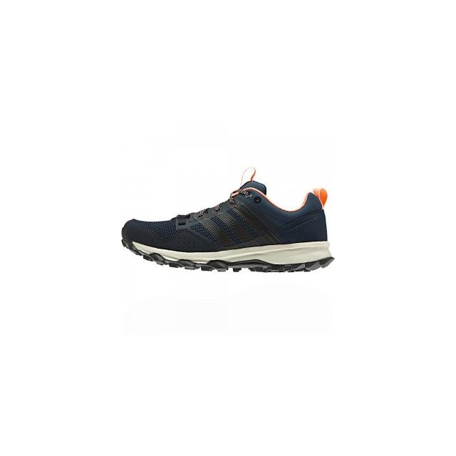 Adidas - Kanadia 7 Trail Running Shoe Women's, Mineral Blue/Night Navy/Sun Glow, 10
