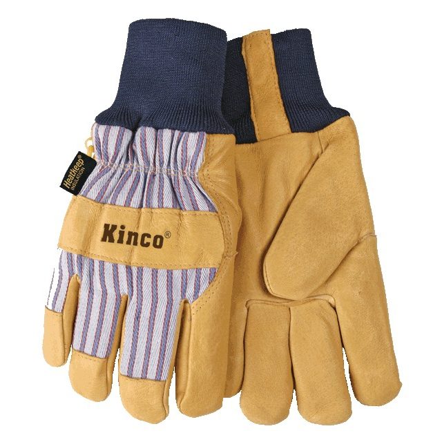 Kinco - Gloves - Knit Cuff Lined Pig Glove - X-Large - Tan