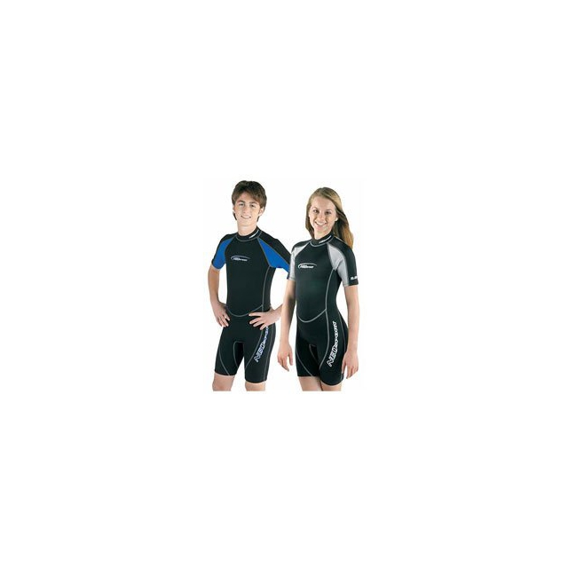 Neosport - Junior 2.5mm Shorty Wetsuit - Blue In Size