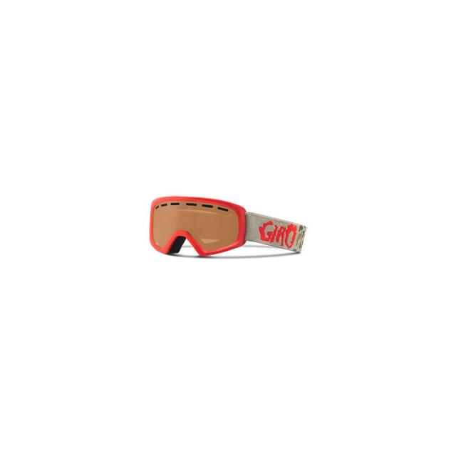 Giro - Rev Children's Ski Goggles - Unisex - Red Glowing Camo/Amber Rose