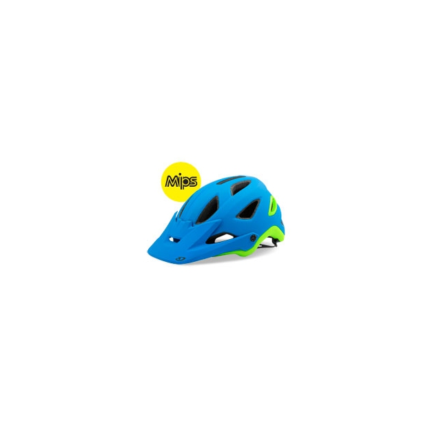 Giro - Montaro MIPS Cycling Helmet - Unisex - Matte Blue/Lime In Size