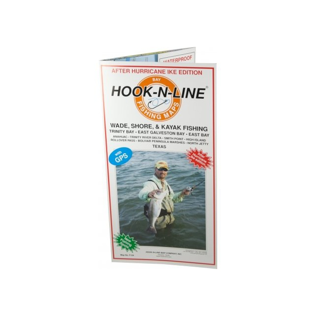 Hook-n-line - Map F104 Wade Fishing East Galveston Bay (With GPS)