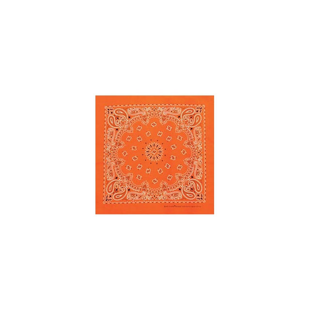 Carolina Manufacturing - Neon Paisley Bandanas - Neon Orange