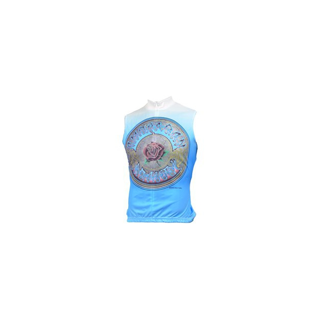 Ride 7b - American Beauty Sleeveless Cycling Jersey - Women's - White/Blue In Size: Extra Small