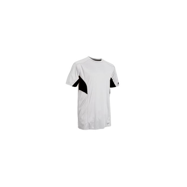 Russell Athletic - Dri-Power Color-Block Short Sleeve Tee with Reflective Accents - Men's