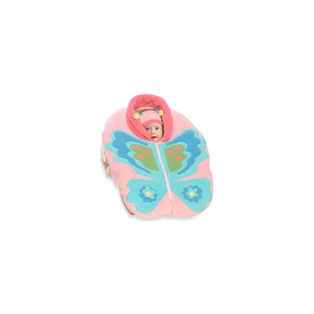 Sara's Prints - Snugaroo Car Seat Cover with Butterfly - Butterfly