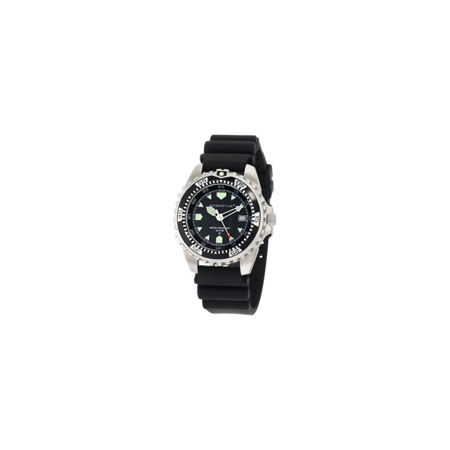 St. Moritz - Momentum by St Moritz watch corp M1 Rubber Strap Dive Watch - Black In Size: Large
