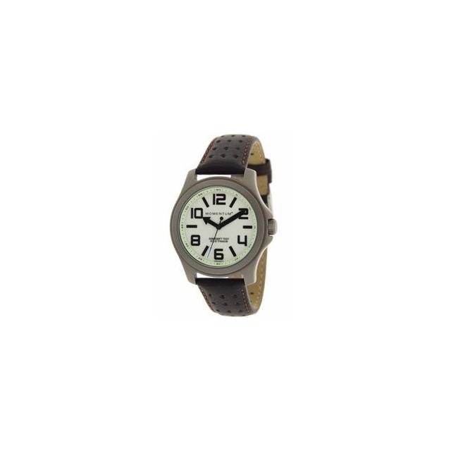 St. Moritz - Momentum by St Moritz watch corp Cobalt Lite Titanium Watch with Leather Strap