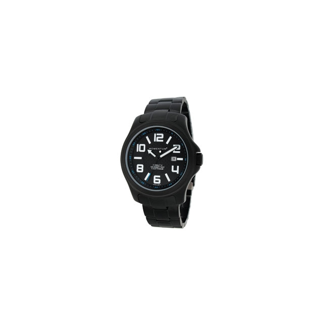 St. Moritz - Momentum by St Moritz watch corp Cobalt V Titanium Watch with Metal Band - Black