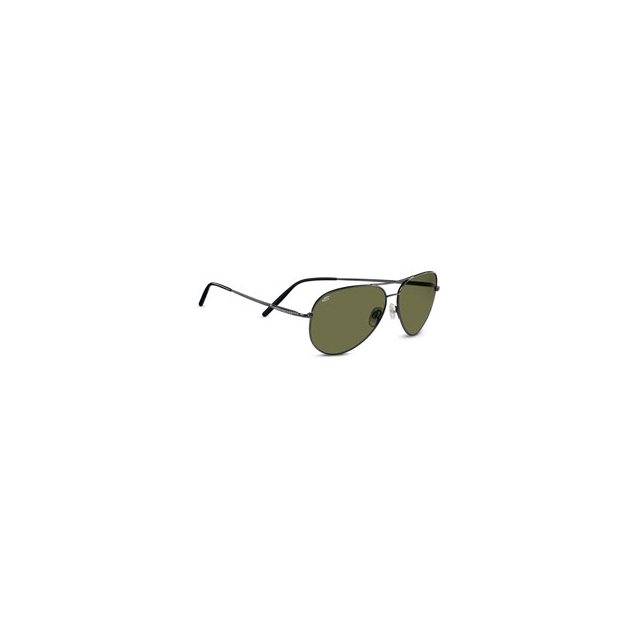 Serengeti - Polarized Aviator Sunglasses - Gunmetal/555nm Polarized Lenses In Size: Medium