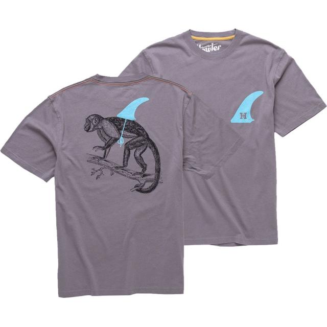 Howler Brothers - Evolution T Shirt Mens - Dove Grey L
