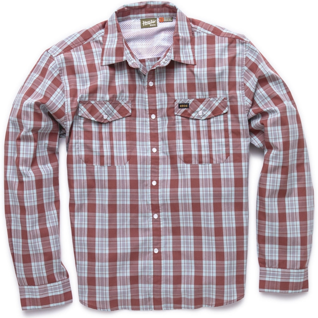 Howler Brothers - Gaucho Snapshirt Mens - Roundup Plaid/Foundation Red XL