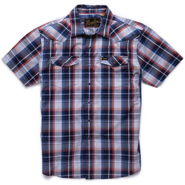Howler Brothers - H Bar B Snapshirt Mens - Cosmic Blue Plaid S