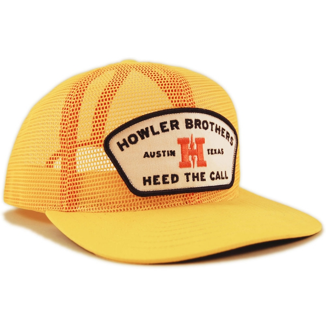 Howler Brothers - Howler Feed Store Snapback Hat - All Yellow Mesh