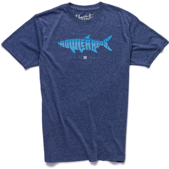 Howler Brothers - Silver King T Shirt Mens - Station Blue Heather L