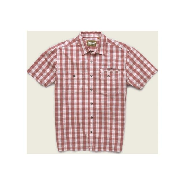 Howler Brothers - Mens Aransas Shirt - Closeout Fiesta Red Large