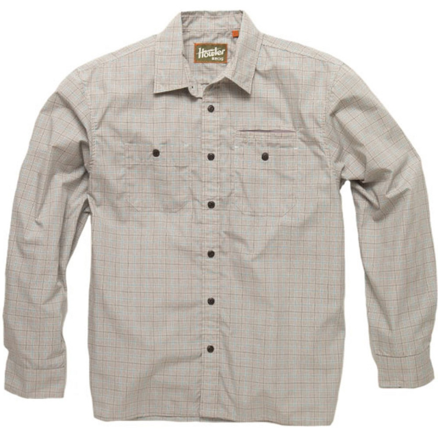 Howler Brothers - Aransas Long Sleeve Shirt Mens - Foursquare Plaid: Russet MD