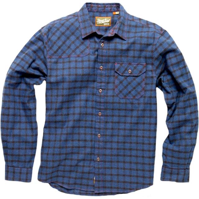 Howler Brothers - Harkers Flannel Shirt Mens - Box Plaid: Deep Ocean LG