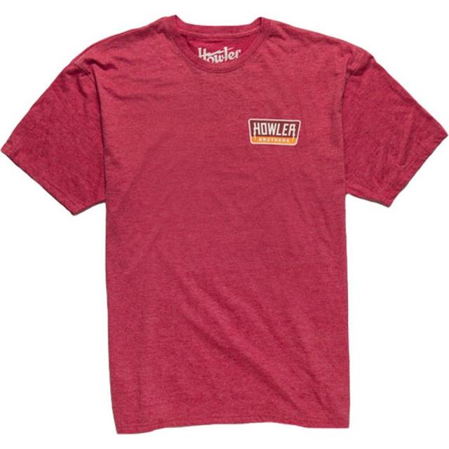 Howler Brothers - Hi Watt T-Shirt Mens - Faded Cherry Heather MD