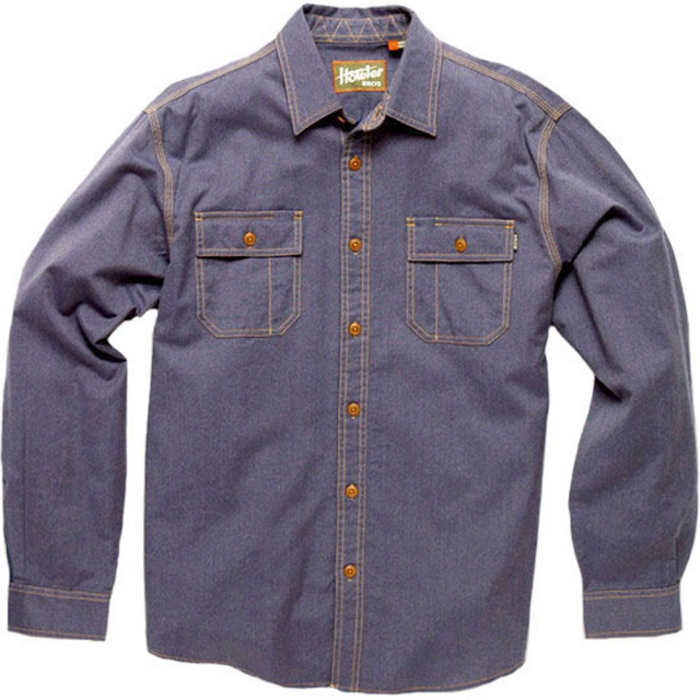 Howler Brothers - Workmans Shirt Mens - Railroad Blue MD
