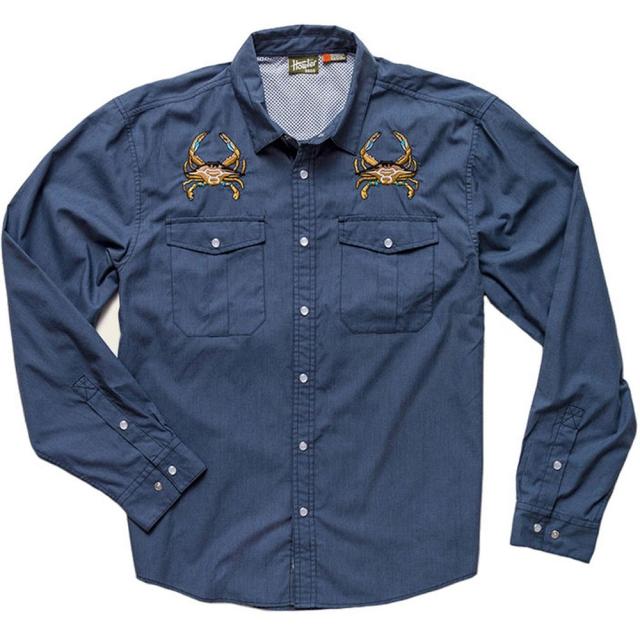 Howler Brothers - Gaucho Snap Shirt Mens - Midnight Blue: Crab S
