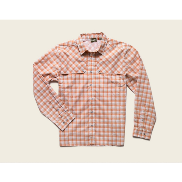 Howler Brothers - Mens Pescador Shirt - Closeout Tyson Plaid: Fuzzy Naval