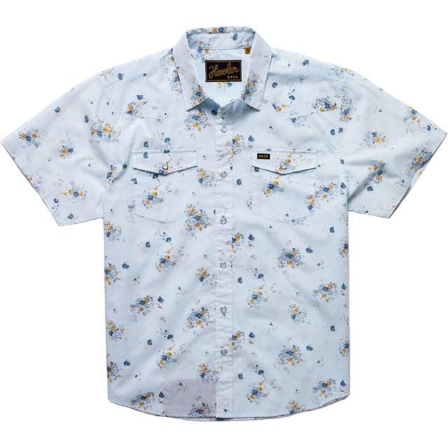 Howler Brothers - H Bar B Snapshirt Mens - Vintage Floral: Soft Blue L