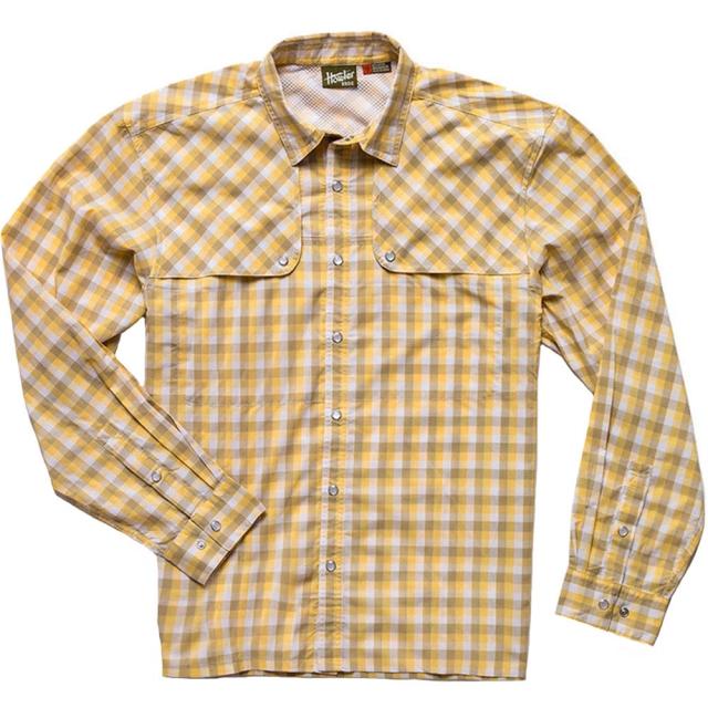 Howler Brothers - Pescador Shirt Mens - Tyson Plaid: Lemon Drop L