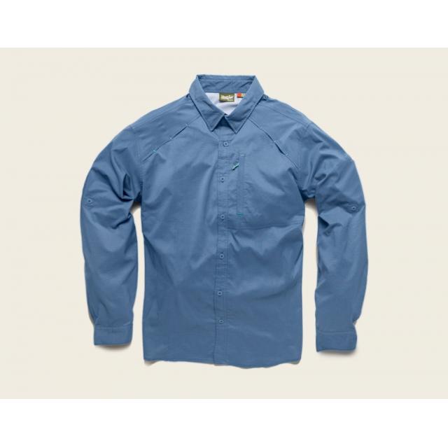 Howler Brothers - Howler Brothers Arroyo Tech Shirt-XLarge-Azul Microcheck