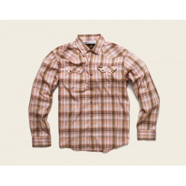 Howler Brothers - Howler Brothers Crosscut Snapshirt-XLarge-Plains Plaid: Sawdust