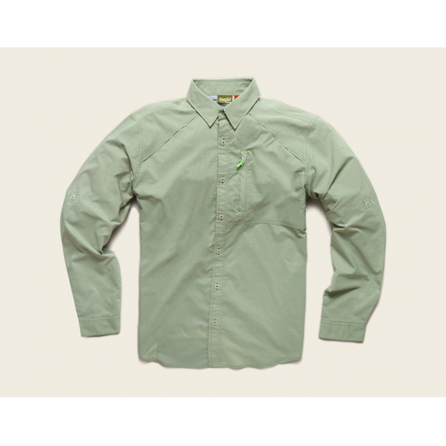 Howler Brothers - Howler Brothers Arroyo Tech Shirt-Large-Osprey Grey Microcheck