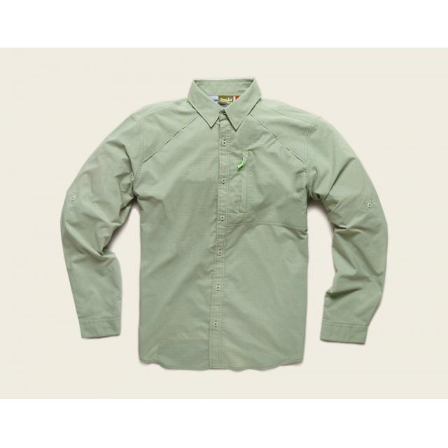 Howler Brothers - Howler Brothers Arroyo Tech Shirt-XXLarge-Osprey Grey Microcheck
