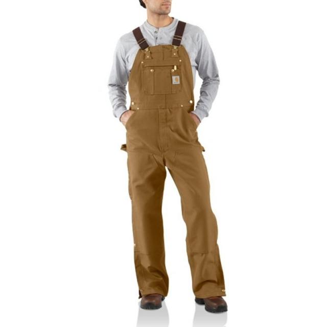 Carhartt, Inc. - Men's Duck Zip-To-Thigh Bib Overall Pants (Unlined
