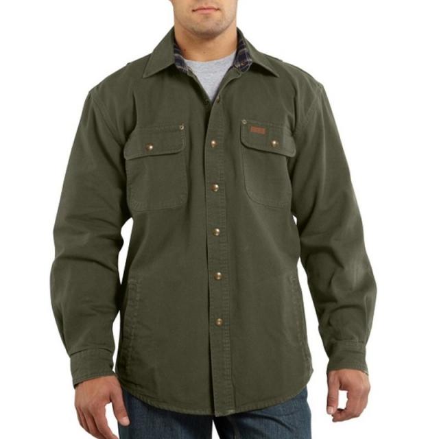 Carhartt, Inc. - Men's Weathered Canvas Button Up Shirt Jac