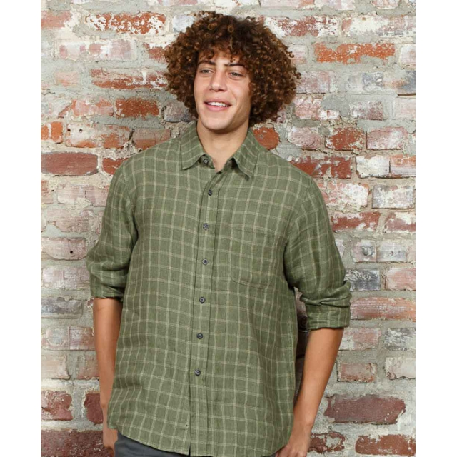 Purnell - - LAWSON BUTTON UP - SMALL - Green