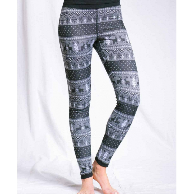 Purnell - - WINTER PRINT LEGGINGS - SMALL - Black/Grey