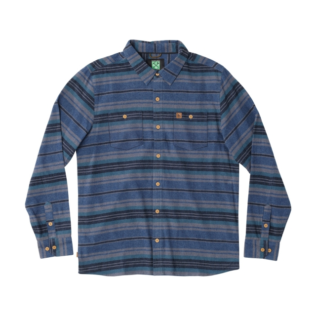 Hippytree Clothing - - PORTER FLANNEL - X-LARGE - Blue