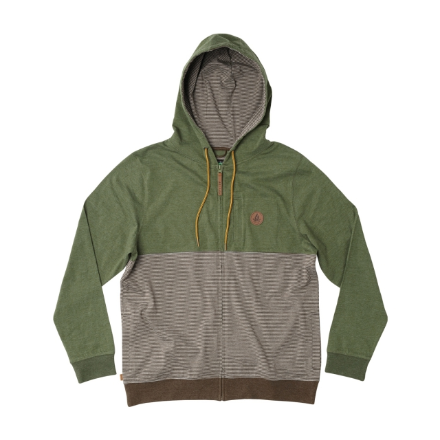 Hippytree Clothing - - LONGFELLOW HOODY - X-LARGE - Heather Army