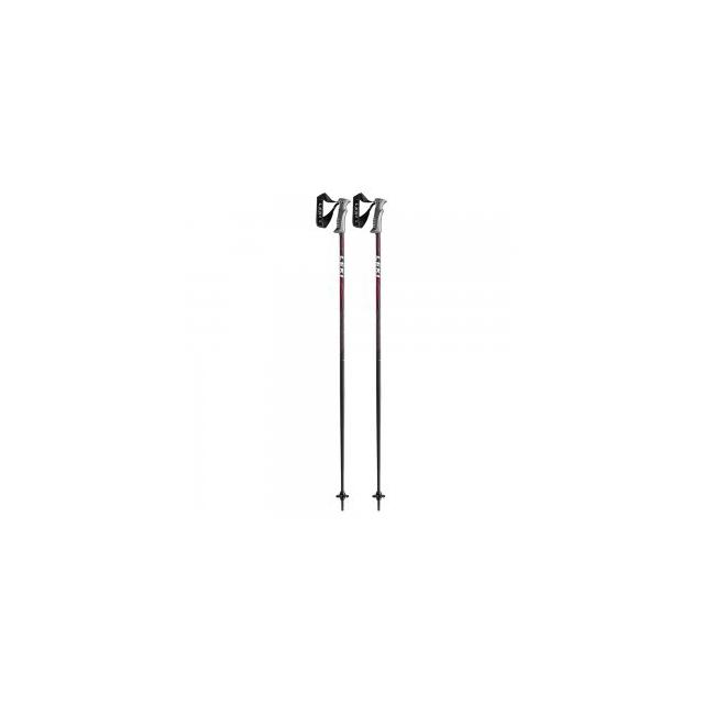 Leki - Quantum Ski Pole, Black/Red, 44