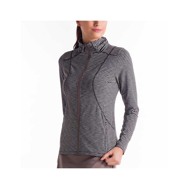 Lole - Essential Cardigan - Women's: Black Stripe, Small