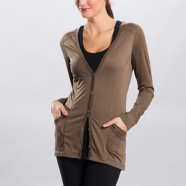 Lole - - Annona Cardigan - Medium - Walnut