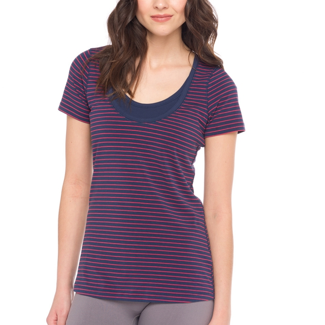 Lole - womens kiss top blueberry 2 tones