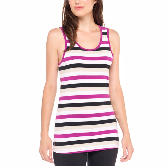 Lole - womens pinnacle top passiflora multi- stripes